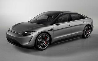 Surpriză la târgul de tehnologie CES 2020: Sony a prezentat conceptul electric Vision-S cu două motoare de 272 de cai putere