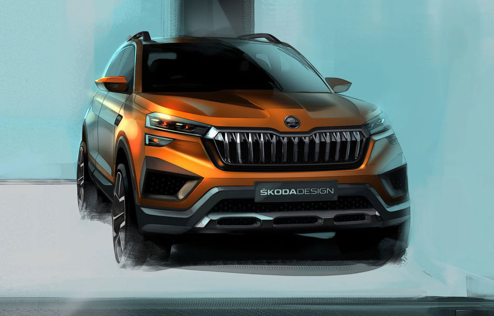 Schițe noi cu viitorul concept Skoda Vision IN: versiunea de serie va fi comercializată exclusiv pe piața din India - Poza 1