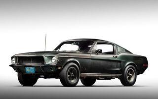 Cel mai scump Mustang din istorie este cel condus de Steve McQueen în filmul Bullitt: exemplarul a fost vândut la licitație pentru 3.7 milioane de dolari