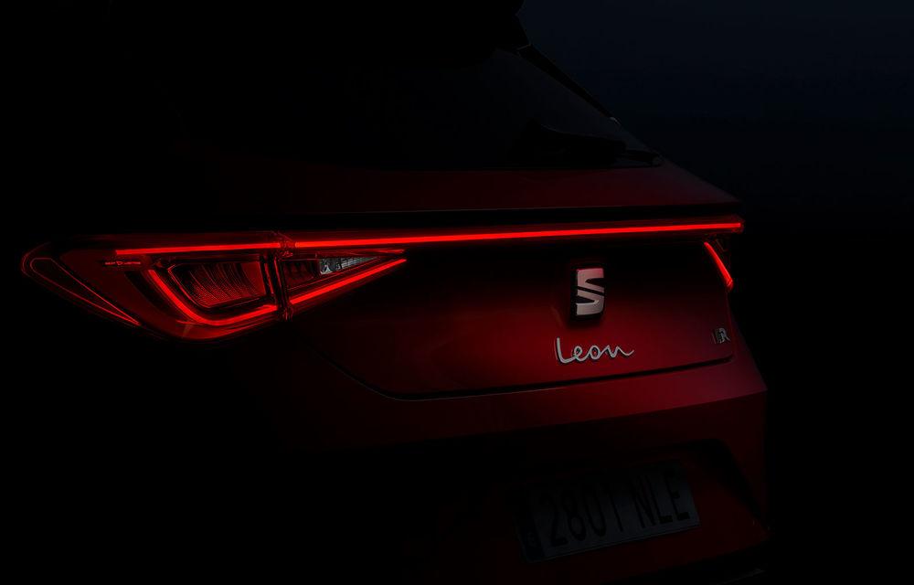 Teaser nou cu viitoarea generație Seat Leon: producătorul spaniol scoate în evidență stopurile modelului de clasă compactă - Poza 1