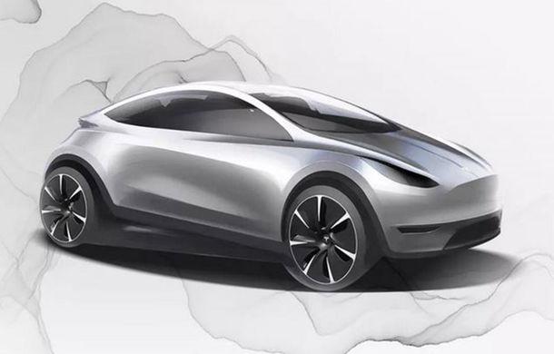 Prima schiță cu un nou model electric pregătit de Tesla: va fi produs în China și va fi vândut la nivel global - Poza 1