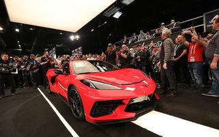 Primul exemplar al noii generații Corvette a fost vândut la licitație pentru 3 milioane de dolari: banii vor fi donați în scopuri caritabile