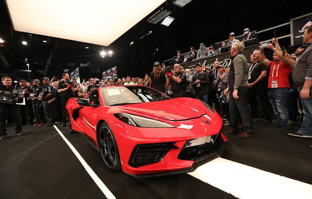 Primul exemplar al noii generații Corvette a fost vândut la licitație pentru 3 milioane de dolari: banii vor fi donați în scopuri caritabile - Poza 1