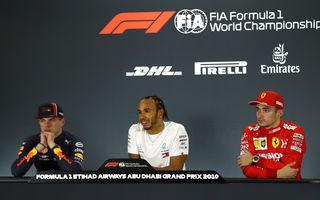 """Red Bull anticipează un sezon """"de poveste"""" în 2020: """"Va fi interesant să vedem cum se descurcă Hamilton cu Leclerc și Verstappen"""""""