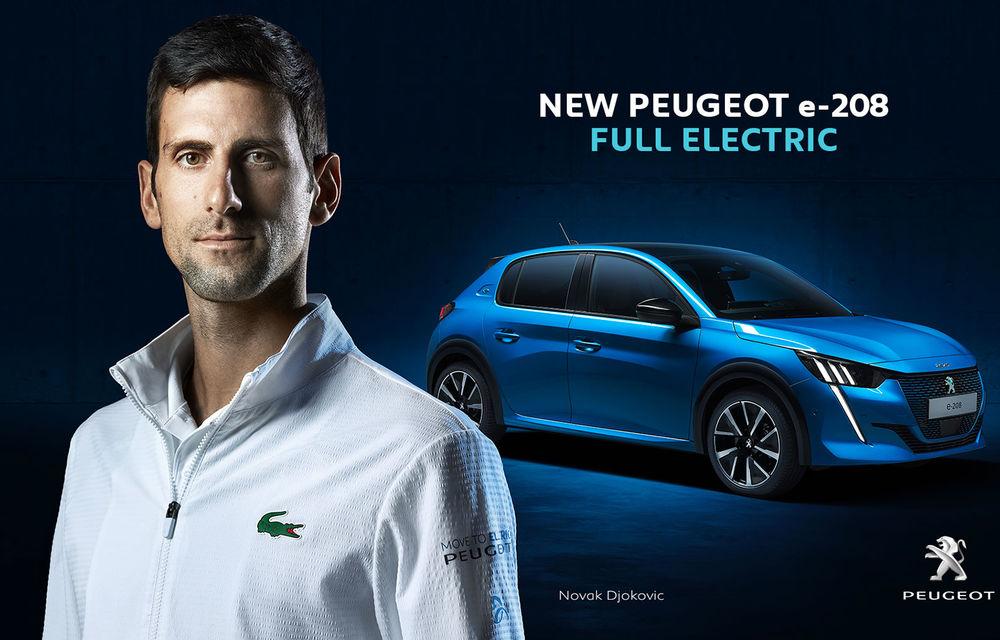 Video. Tenismenul Novak Djokovic promovează noul Peugeot e-208: modelul electric promite o autonomie de până la 340 de kilometri - Poza 2