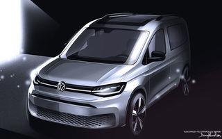 Schițe noi cu viitorul Volkswagen Caddy: modelul va fi prezentat la finalul lunii februarie
