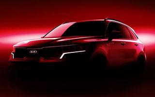 Kia a publicat primele imagini teaser cu viitoarea generație Sorento: SUV-ul producătorului asiatic va avea o platformă nouă și va fi prezentat la Geneva