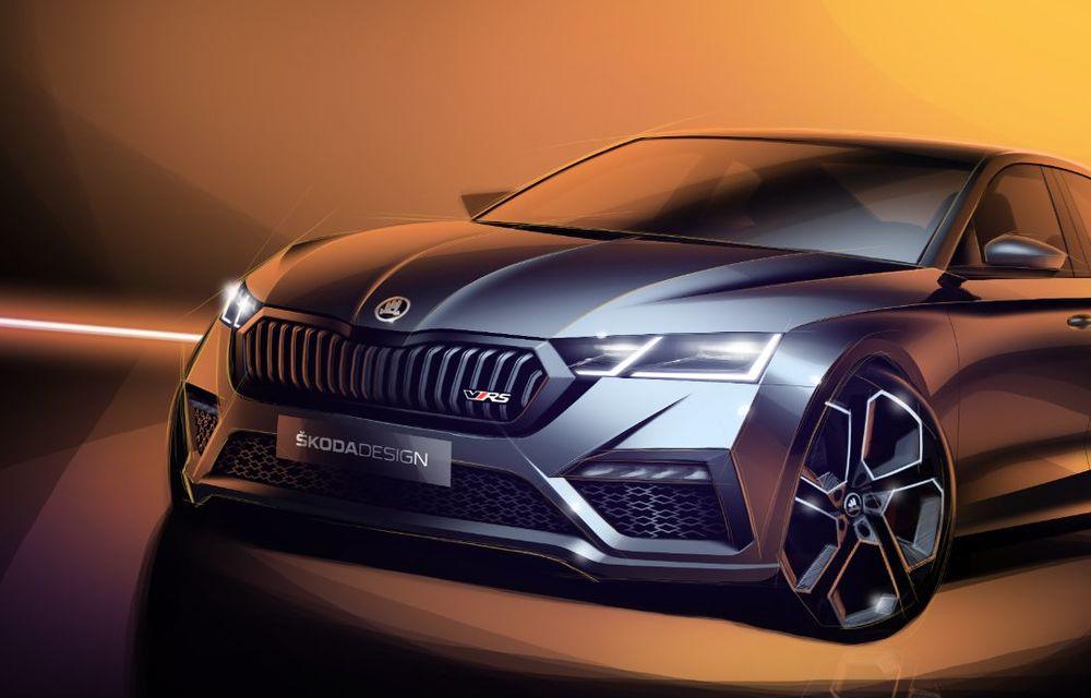 Primele schițe cu viitoarea Skoda Octavia RS iV: modelul plug-in hybrid de performanță va avea 245 de cai putere și va debuta la Geneva - Poza 2
