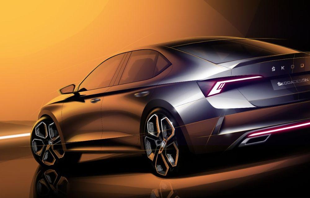 Primele schițe cu viitoarea Skoda Octavia RS iV: modelul plug-in hybrid de performanță va avea 245 de cai putere și va debuta la Geneva - Poza 3