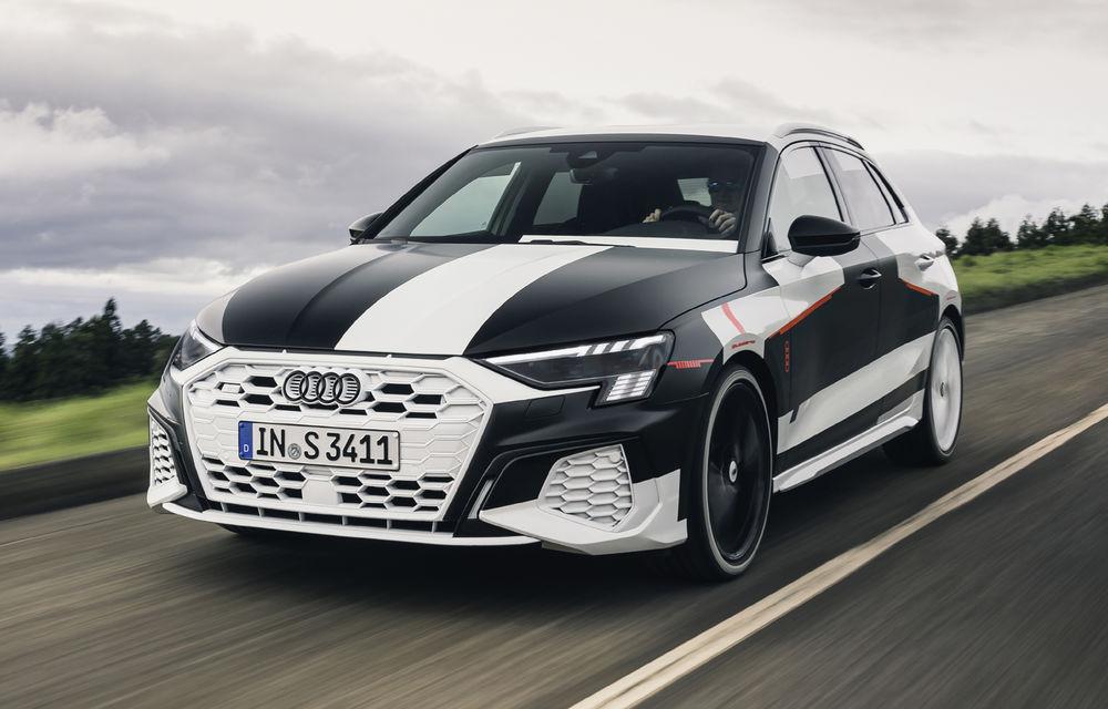 Primele imagini cu noua generație Audi A3 Sportback: prototipul modelului compact a fost testat în Insulele Azore - Poza 1