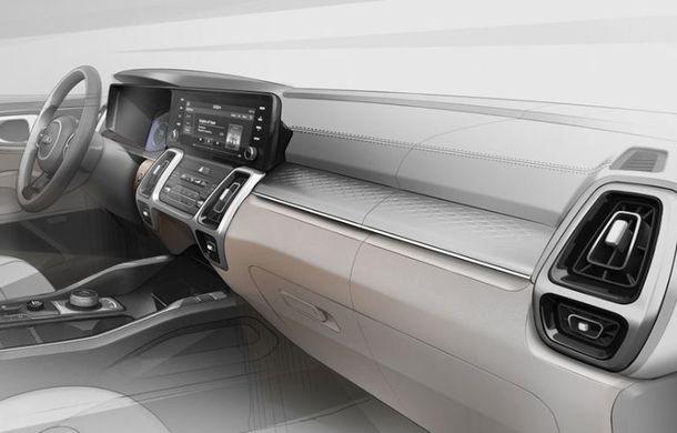 Schițe oficiale cu viitoarea generație Kia Sorento: asiaticii oferă detalii de exterior, dar și primele imagini cu interiorul noului SUV - Poza 5