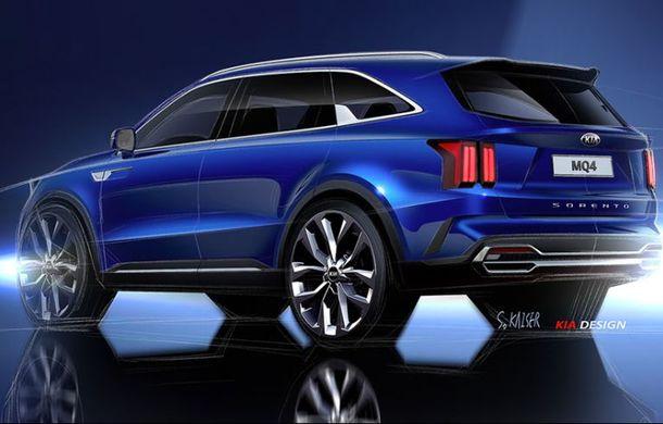 Schițe oficiale cu viitoarea generație Kia Sorento: asiaticii oferă detalii de exterior, dar și primele imagini cu interiorul noului SUV - Poza 2