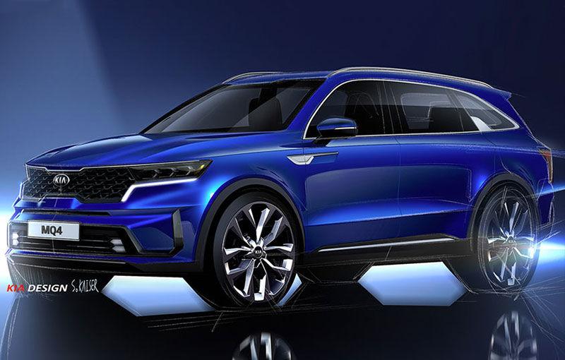 Schițe oficiale cu viitoarea generație Kia Sorento: asiaticii oferă detalii de exterior, dar și primele imagini cu interiorul noului SUV - Poza 1