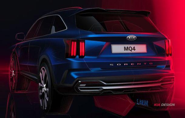 Schițe oficiale cu viitoarea generație Kia Sorento: asiaticii oferă detalii de exterior, dar și primele imagini cu interiorul noului SUV - Poza 4