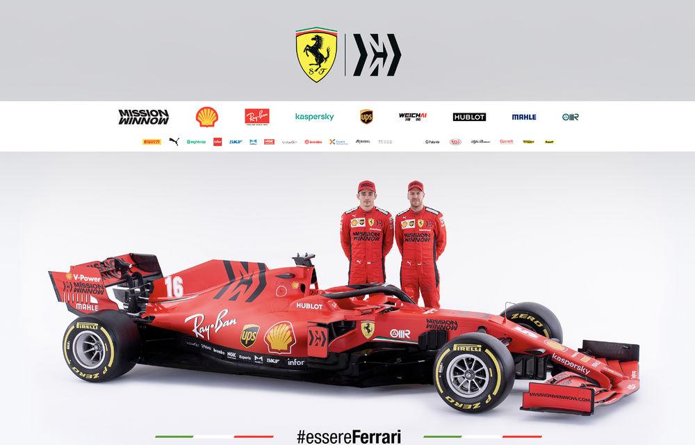 """Ferrari a prezentat noul monopost de Formula 1 pentru sezonul 2020: """"Vettel rămâne prima opțiune pentru 2021, Hamilton nu este o prioritate"""" - Poza 10"""