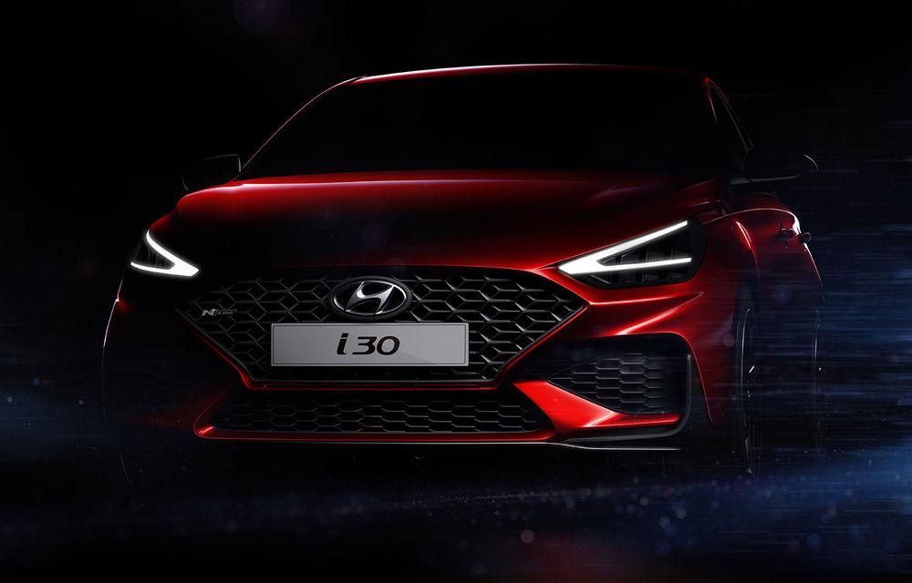 Primele imagini teaser cu viitorul Hyundai i30 facelift: modelul de clasă compactă debutează la Geneva - Poza 1