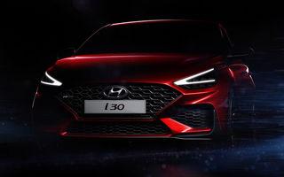Primele imagini teaser cu viitorul Hyundai i30 facelift: modelul de clasă compactă debutează la Geneva