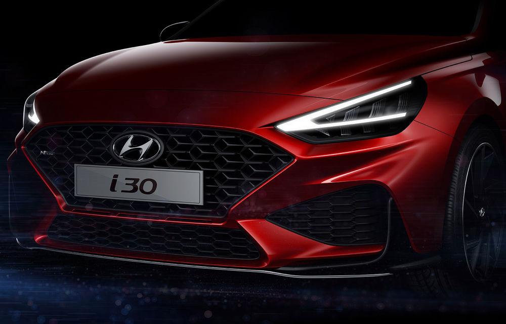 Primele imagini teaser cu viitorul Hyundai i30 facelift: modelul de clasă compactă debutează la Geneva - Poza 2