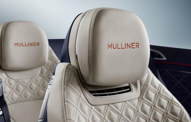 Bentley prezintă ediția specială Continental GT Mulliner Cabrio: 400.000 de cusături și un interior lucrat manual - Poza 8