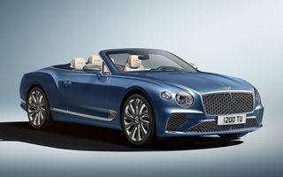 Bentley prezintă ediția specială Continental GT Mulliner Cabrio: 400.000 de cusături și un interior lucrat manual