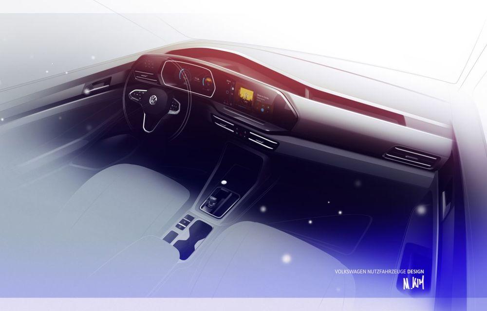 Volkswagen a prezentat noul Caddy: platformă nouă, interior modern și motoare cu puteri de până la 122 CP - Poza 3