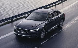 Primele imagini cu Volvo S90 și V90 facelift: modelele primesc în premieră versiuni mild-hybrid