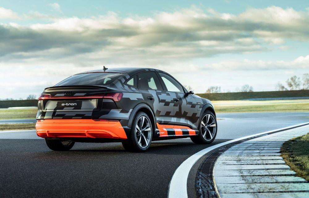 Audi e-tron S și e-tron S Sportback: versiunile de performanță au trei motoare electrice și până la 503 CP - Poza 12