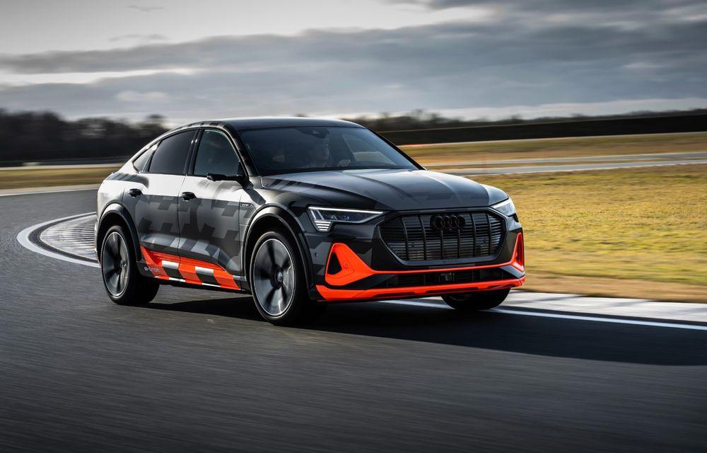 Audi e-tron S și e-tron S Sportback: versiunile de performanță au trei motoare electrice și până la 503 CP - Poza 17