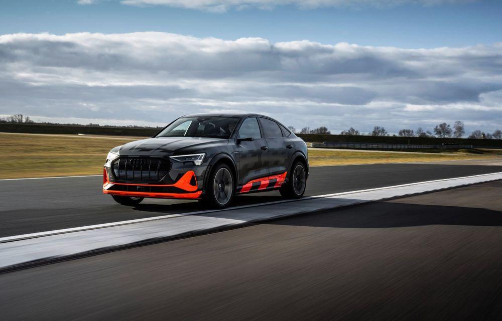Audi e-tron S și e-tron S Sportback: versiunile de performanță au trei motoare electrice și până la 503 CP - Poza 20