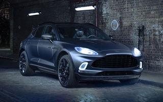 Divizia Q a pregătit accesorii speciale pentru Aston Martin DBX: SUV-ul poate fi comandat cu o consolă centrală fabricată din 280 de straturi din fibră de carbon