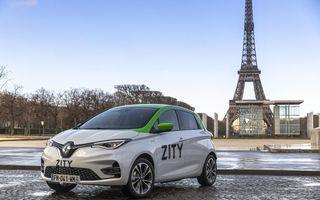Renault a lansat un serviciu de car-sharing cu mașini electrice în Paris: Zity va fi disponibil și în alte orașe europene, în anii următori