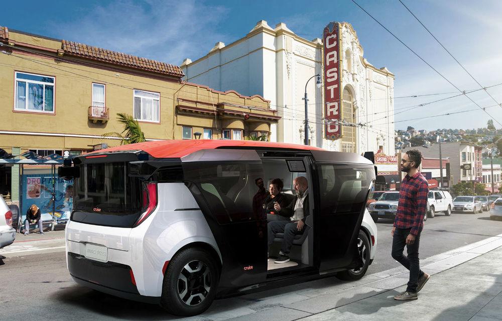 General Motors a primit licență pentru teste cu mașini autonome pe drumurile publice: prototipul Cruise Origin va fi testat în California - Poza 1