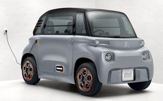 Citroen a lansat versiunea de serie a conceptului Ami One: cvadriciclu electric cu autonomie de 70 de kilometri și preț de 6.000 de euro