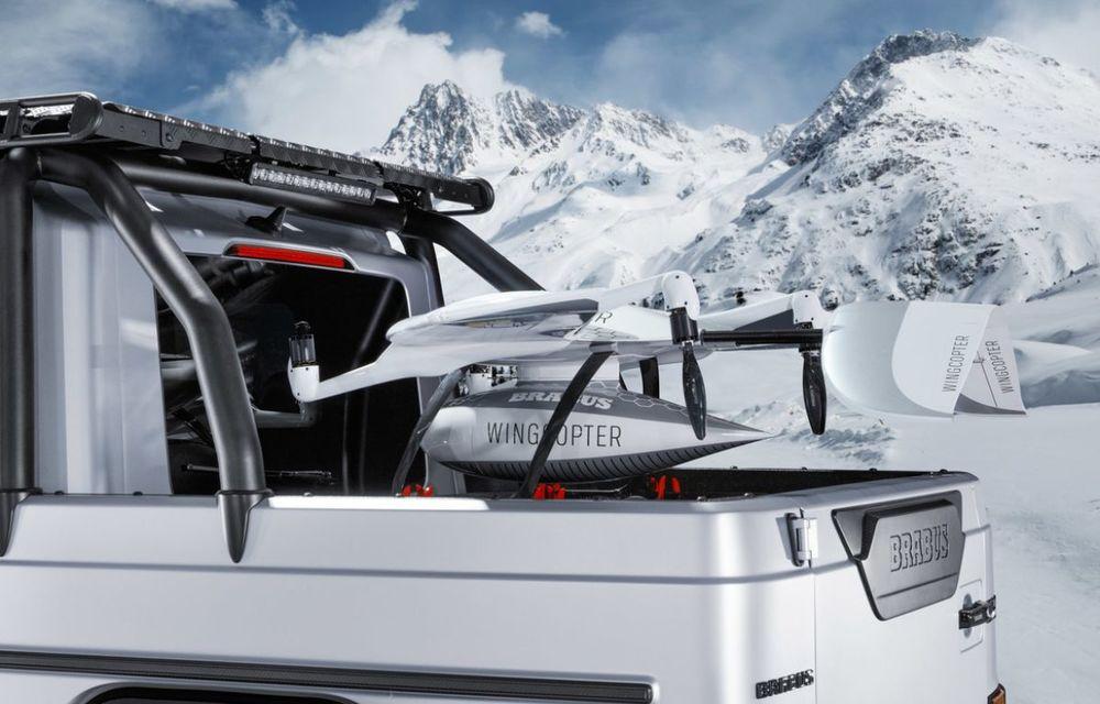Brabus a transformat un Clasa G într-un pick-up: gardă la sol de 49 de centimetri și motor V8 cu 800 CP - Poza 6