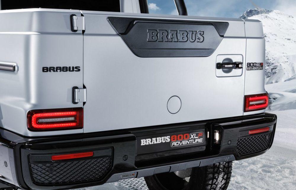 Brabus a transformat un Clasa G într-un pick-up: gardă la sol de 49 de centimetri și motor V8 cu 800 CP - Poza 5
