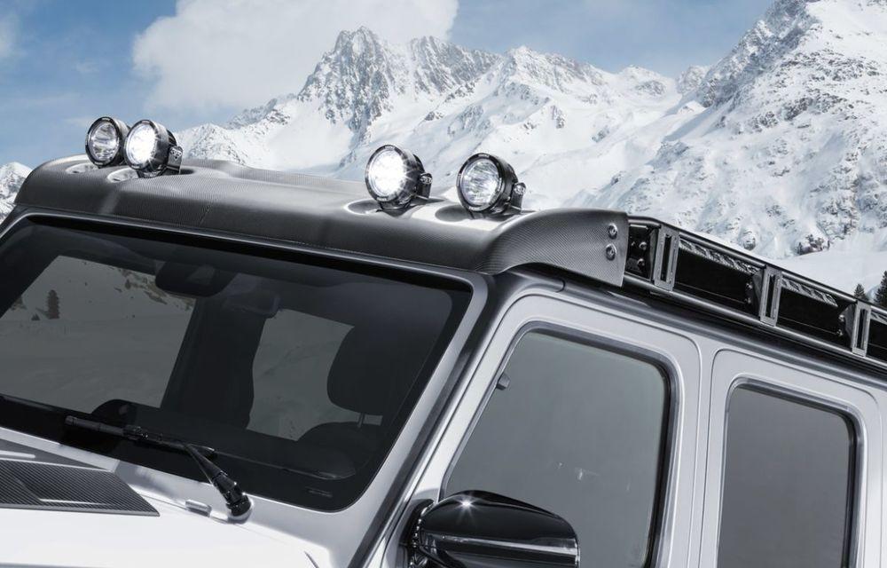 Brabus a transformat un Clasa G într-un pick-up: gardă la sol de 49 de centimetri și motor V8 cu 800 CP - Poza 7