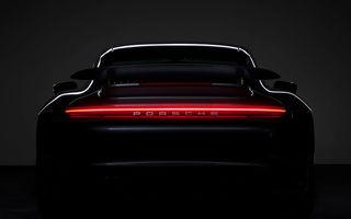 Prima imagine teaser cu viitorul Porsche 911 Turbo S: modelul va fi prezentat în 3 martie