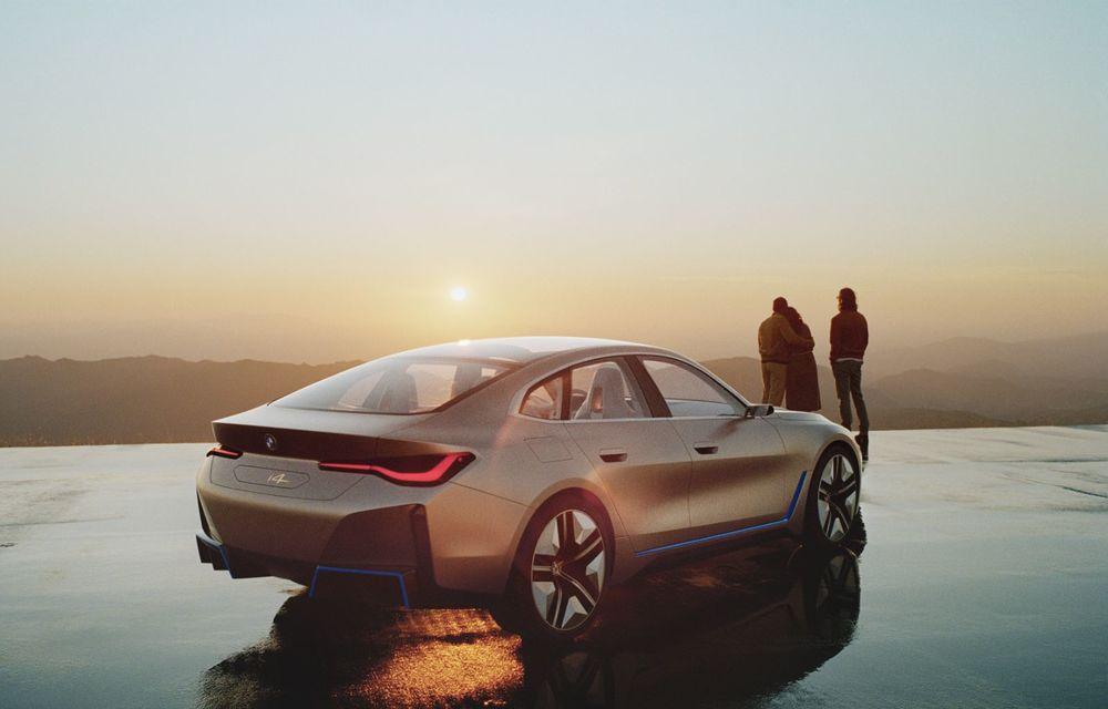BMW a prezentat noul Concept i4: 530 CP și autonomie de până la 600 de kilometri. Versiunea de serie va fi produsă începând cu 2021 - Poza 6