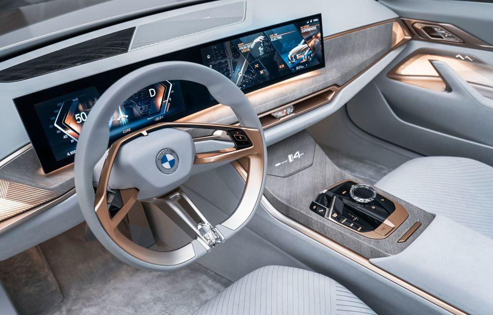 BMW a prezentat noul Concept i4: 530 CP și autonomie de până la 600 de kilometri. Versiunea de serie va fi produsă începând cu 2021 - Poza 27