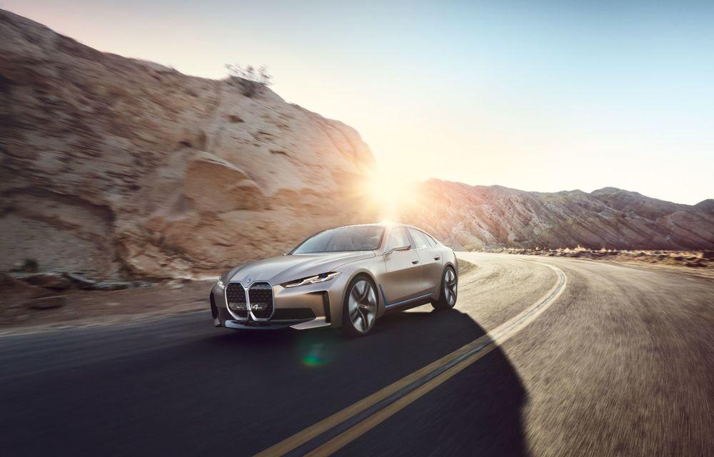 BMW a prezentat noul Concept i4: 530 CP și autonomie de până la 600 de kilometri. Versiunea de serie va fi produsă începând cu 2021 - Poza 3