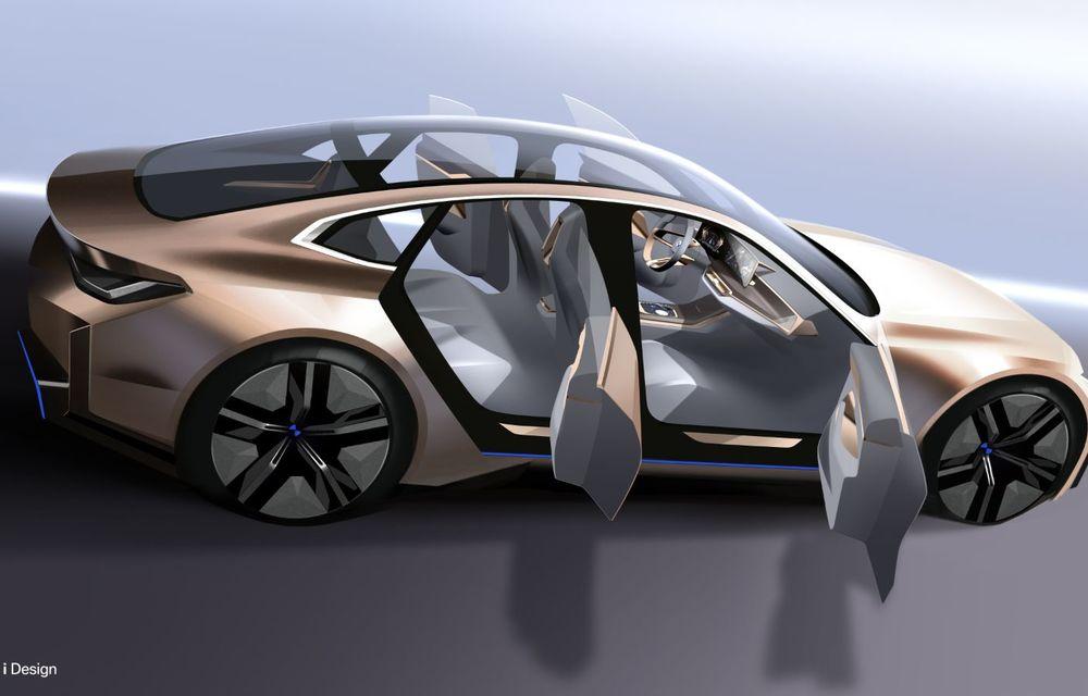 BMW a prezentat noul Concept i4: 530 CP și autonomie de până la 600 de kilometri. Versiunea de serie va fi produsă începând cu 2021 - Poza 65