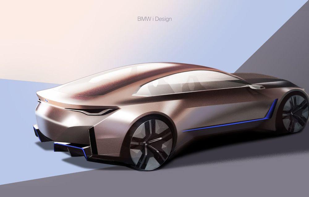 BMW a prezentat noul Concept i4: 530 CP și autonomie de până la 600 de kilometri. Versiunea de serie va fi produsă începând cu 2021 - Poza 59