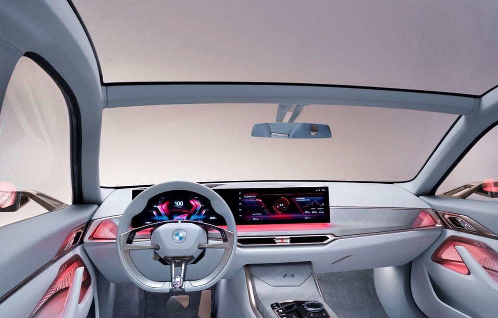 BMW a prezentat noul Concept i4: 530 CP și autonomie de până la 600 de kilometri. Versiunea de serie va fi produsă începând cu 2021 - Poza 30