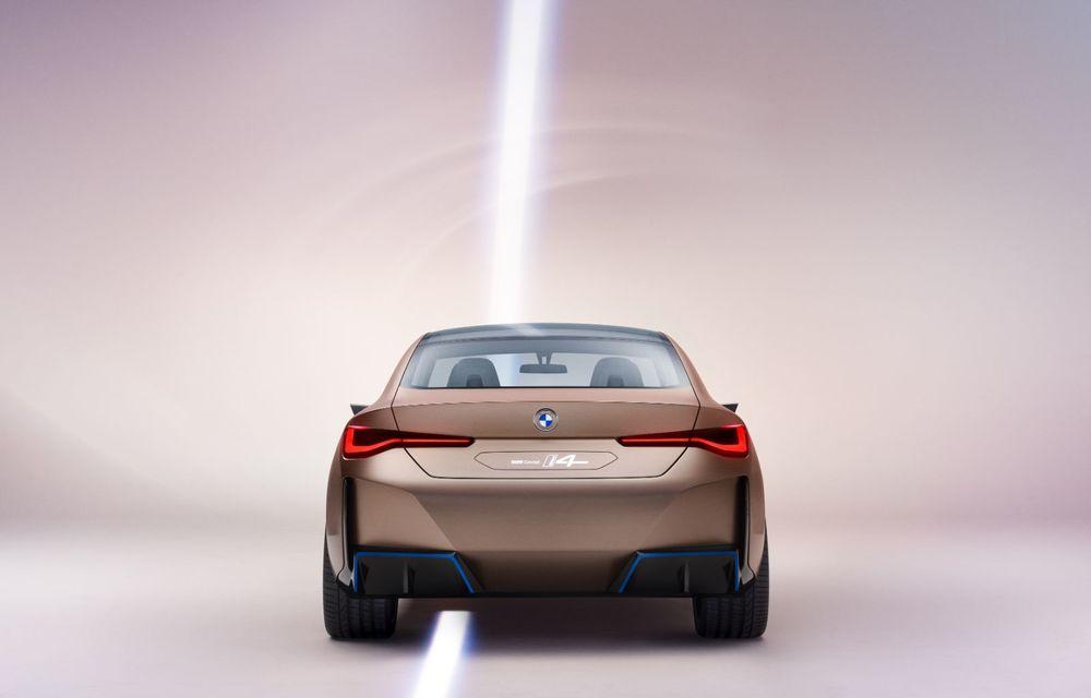 BMW a prezentat noul Concept i4: 530 CP și autonomie de până la 600 de kilometri. Versiunea de serie va fi produsă începând cu 2021 - Poza 18