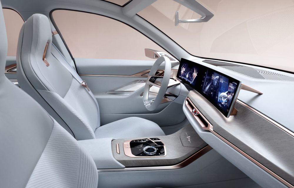 BMW a prezentat noul Concept i4: 530 CP și autonomie de până la 600 de kilometri. Versiunea de serie va fi produsă începând cu 2021 - Poza 32