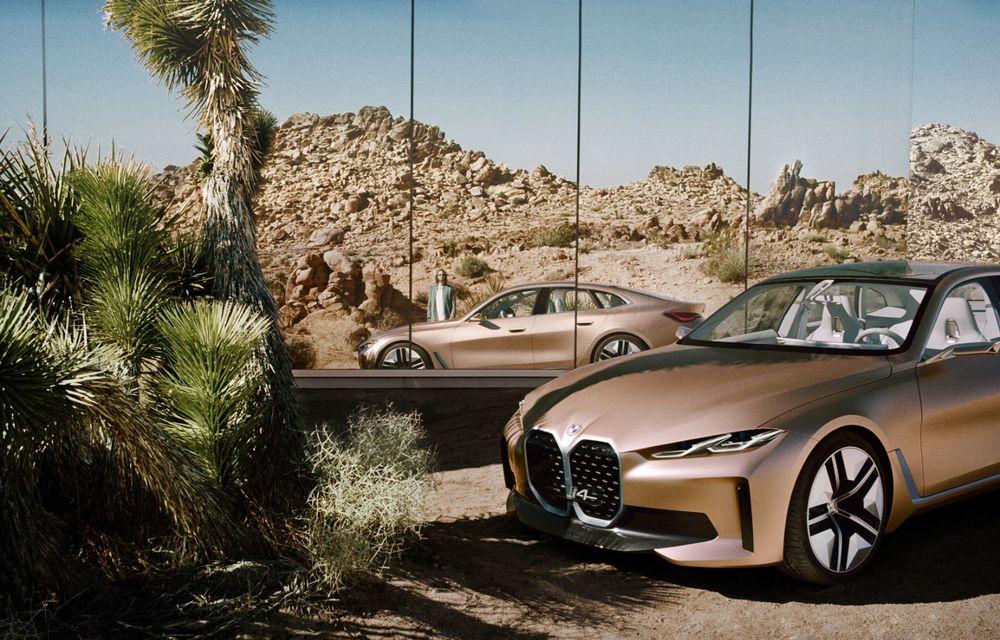 BMW a prezentat noul Concept i4: 530 CP și autonomie de până la 600 de kilometri. Versiunea de serie va fi produsă începând cu 2021 - Poza 5