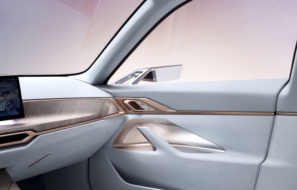 BMW a prezentat noul Concept i4: 530 CP și autonomie de până la 600 de kilometri. Versiunea de serie va fi produsă începând cu 2021 - Poza 36