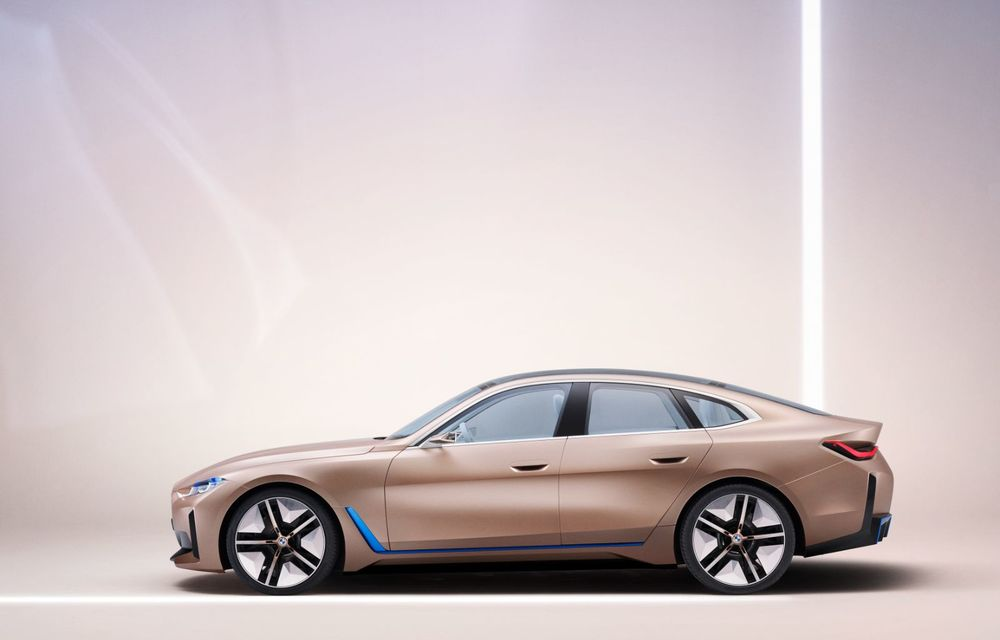 BMW a prezentat noul Concept i4: 530 CP și autonomie de până la 600 de kilometri. Versiunea de serie va fi produsă începând cu 2021 - Poza 16