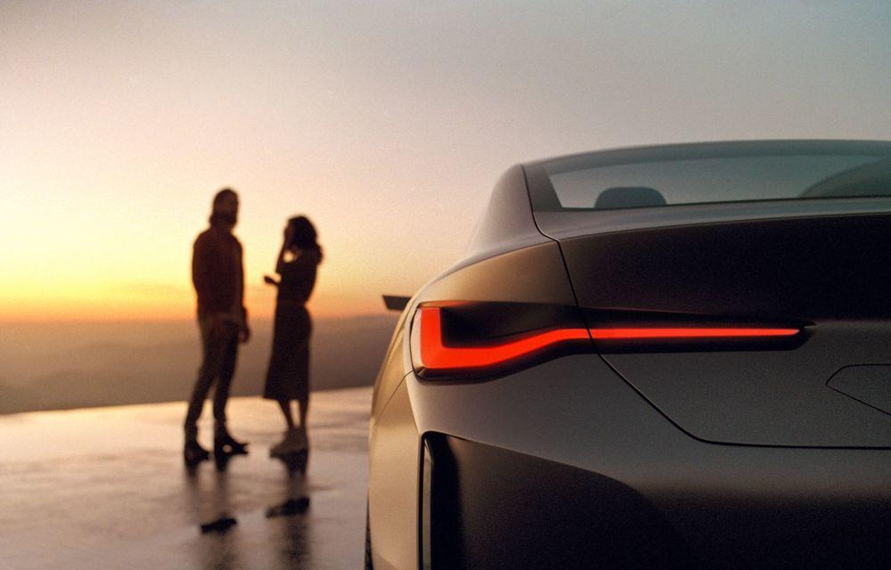 BMW a prezentat noul Concept i4: 530 CP și autonomie de până la 600 de kilometri. Versiunea de serie va fi produsă începând cu 2021 - Poza 24