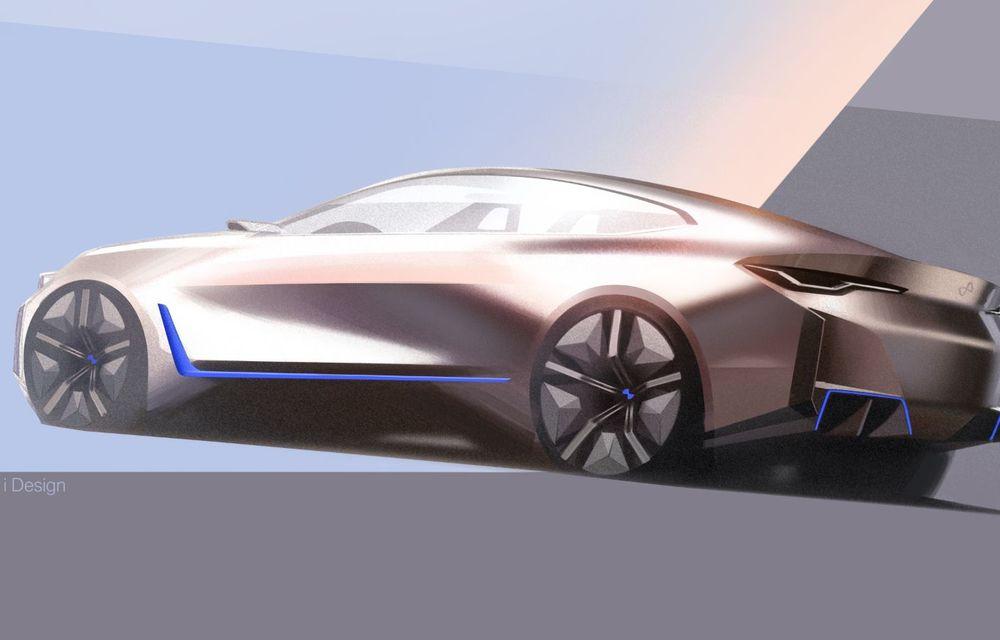 BMW a prezentat noul Concept i4: 530 CP și autonomie de până la 600 de kilometri. Versiunea de serie va fi produsă începând cu 2021 - Poza 58